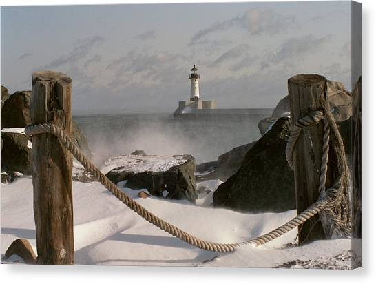 Canal Park Lighthouse Canvas Print