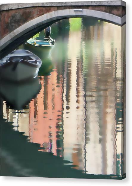 Canal Reflection San Barnaba Canvas Print by Vicki Hone Smith