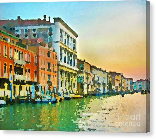 Canal Sunset - Venice Canvas Print
