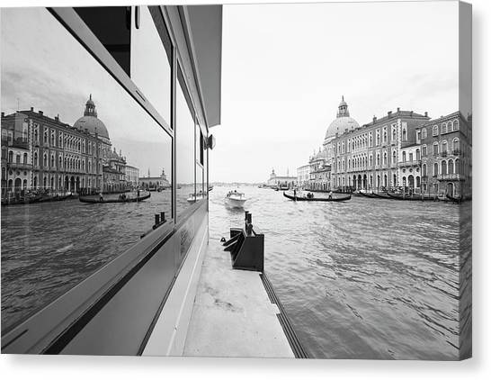 Canale Riflesso Canvas Print