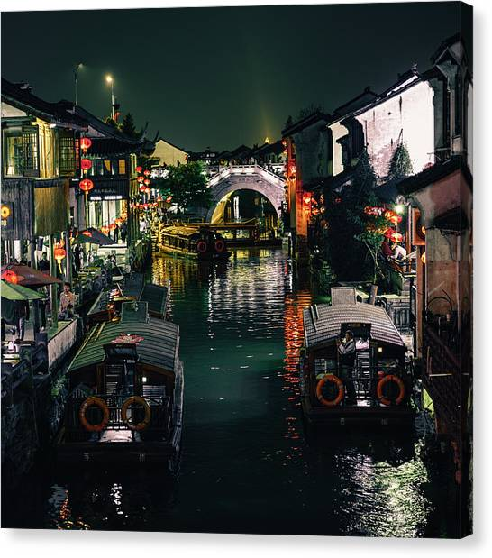 Canals Of Suzhou Canvas Print
