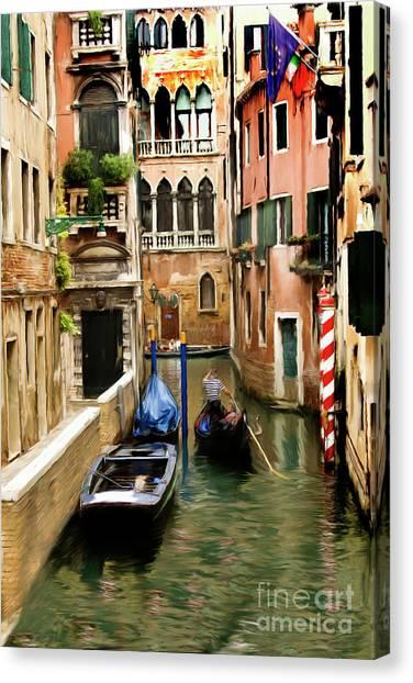 Canals Of Venice Canvas Print by Susan  Lipschutz