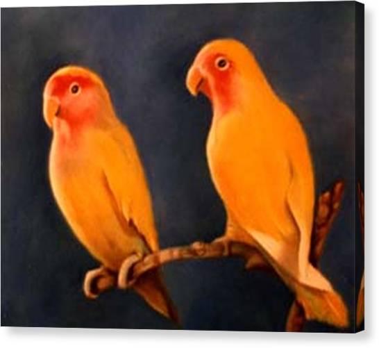 Canaries Canvas Print