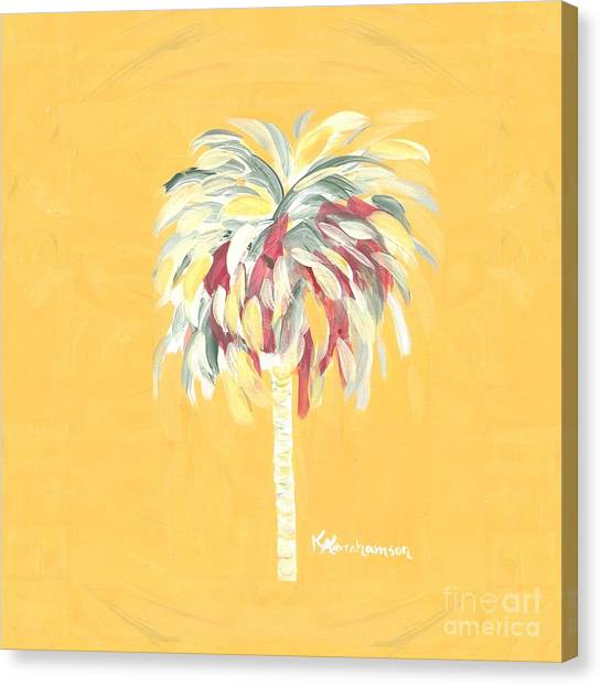 Canary Palm Tree Canvas Print
