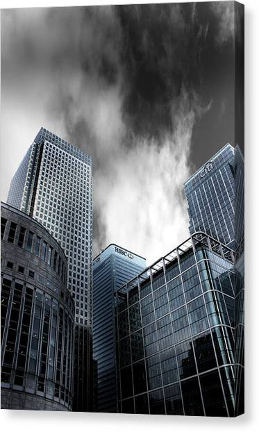 Canaries Canvas Print - Canary Wharf by Martin Newman