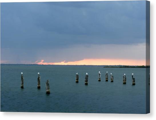 Canaveral Sunset Canvas Print by Eric Foltz