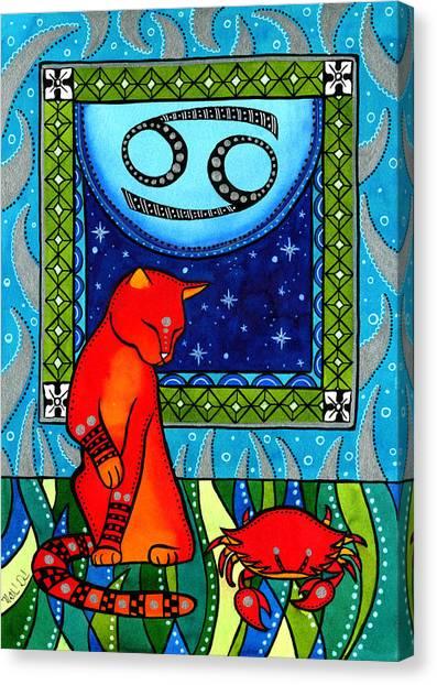 Cancer Cat Zodiac Canvas Print