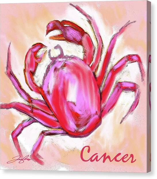 Cancer The Crab Canvas Print