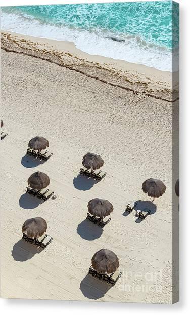 Beach Resort Vacation Canvas Print - Cancun Beach View by Jess Kraft