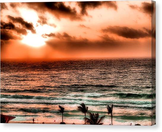 Cancun Sunrise 3 Canvas Print