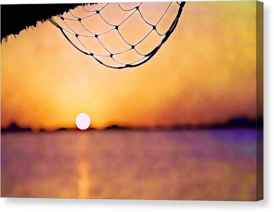 Cancun Sunset On The Lake Canvas Print