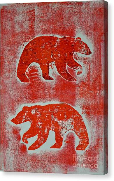 Candadian Bears Two  Canvas Print