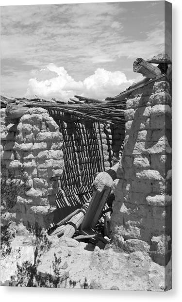 Candelaria Adobe Canvas Print by Clyde Replogle