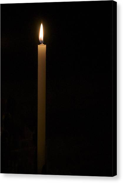 Candle Light Canvas Print by Marion McCristall