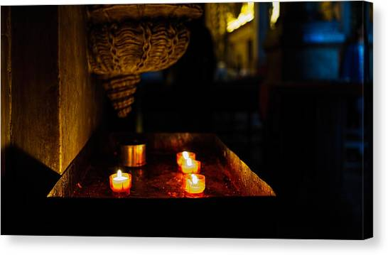 Candle Oasis Canvas Print