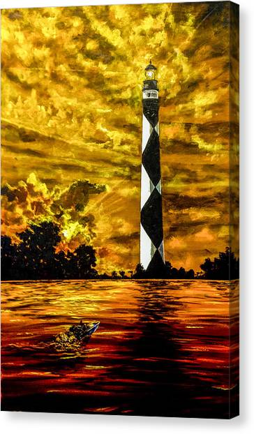 Candle On The Water Canvas Print
