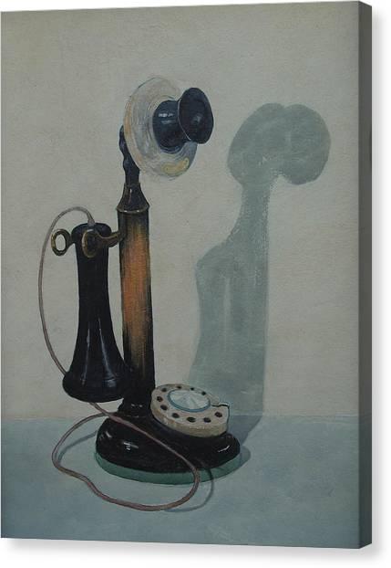 Candlestick Telephone Canvas Print