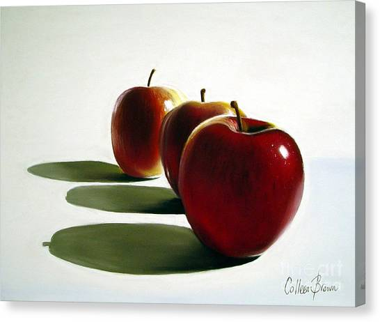 Orchard Canvas Print - Candy Apple Red by Colleen Brown