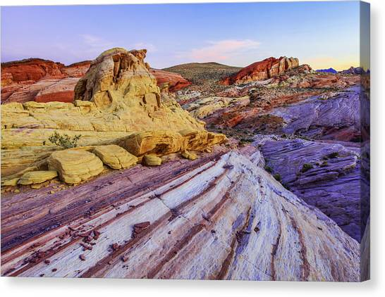 Sunsets Canvas Print - Candy Cane Desert by Chad Dutson