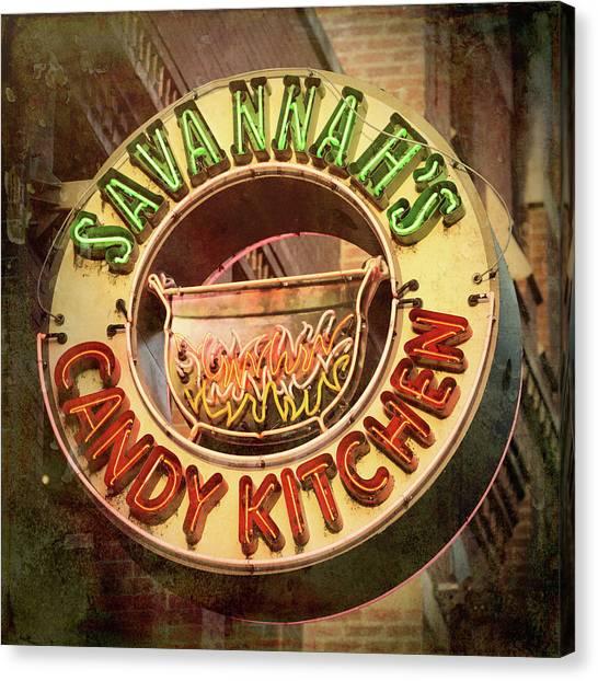 Nashville Predators Canvas Print - Candy Kitchen by Stephen Stookey