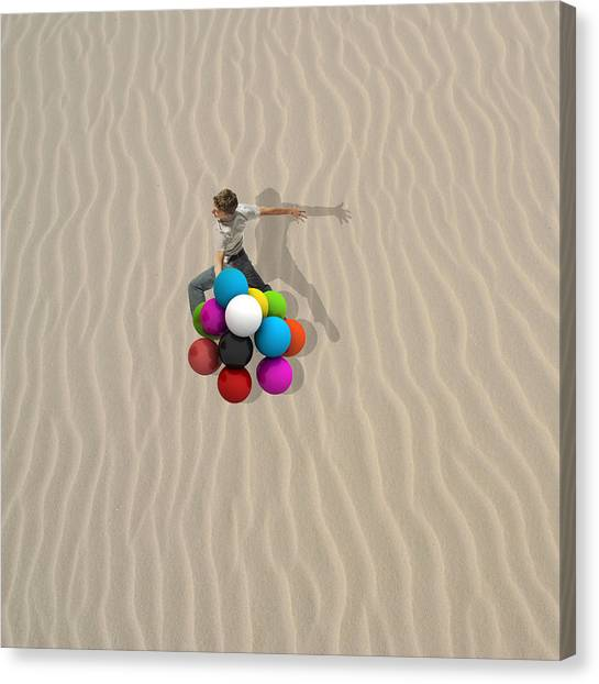 Minimal Canvas Print - Candy Sand by Caterina Theoharidou