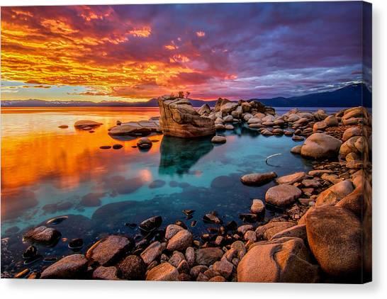 Lake Tahoe Canvas Print - Candy Skies by Steve Baranek