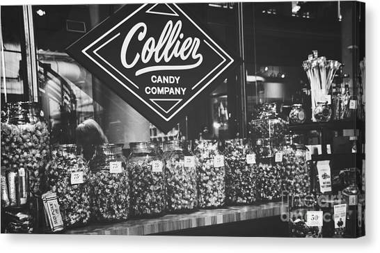 Candy Store- Ponce City Market - Black And White Canvas Print