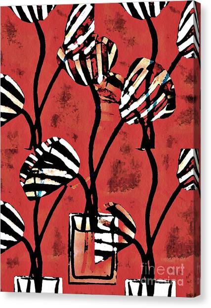 Candy Stripe Tulips 2 Canvas Print