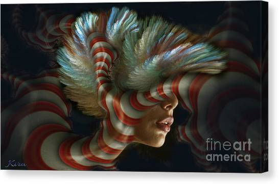 Candy Striper Canvas Print