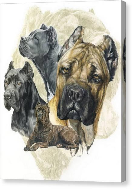 Cane Corso W/ghost Canvas Print