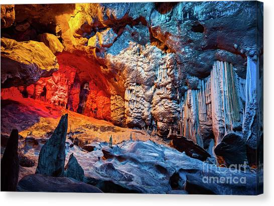 Cango Caves Canvas Print - Cango Cave Of South Africa by Anna Om