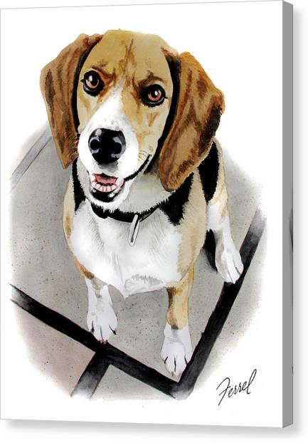 Canine Cutie Canvas Print