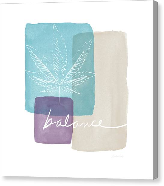 Marijuana Canvas Print - Cannabis Leaf Watercolor 3- Art By Linda Woods by Linda Woods