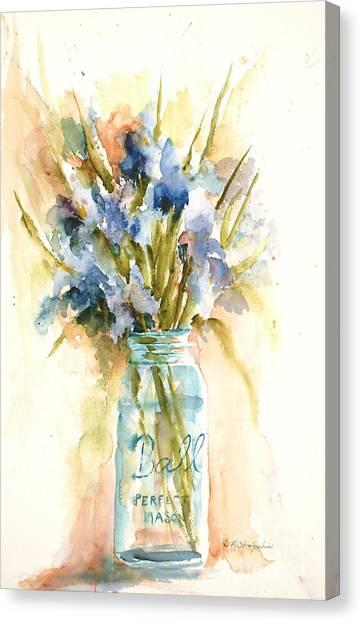 Canning Irises Canvas Print