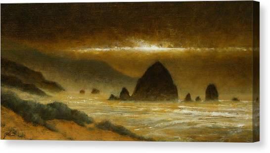 Canvas Print - Cannon Beach Evening by Jim Gola
