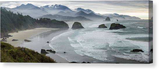 Cannon Beach Oregon Pano Canvas Print