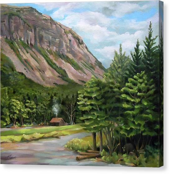 Cannon Cliff New Hampshire Canvas Print