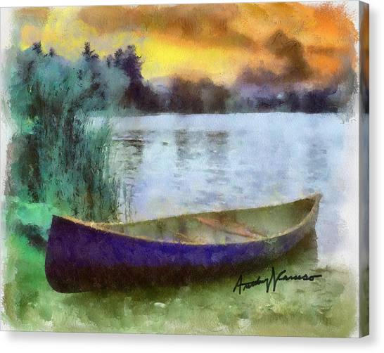 Canoes Canvas Print - Canoe by Anthony Caruso