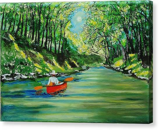 Canoe Cruising Canvas Print
