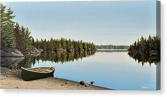 Canoe The Massassauga Canvas Print