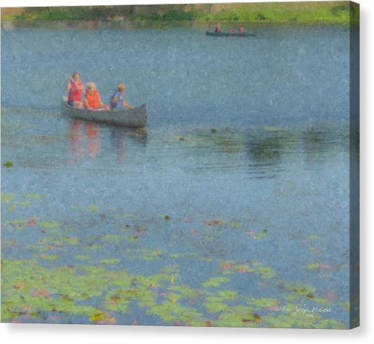 Canoes On Shovelshop Pond Canvas Print