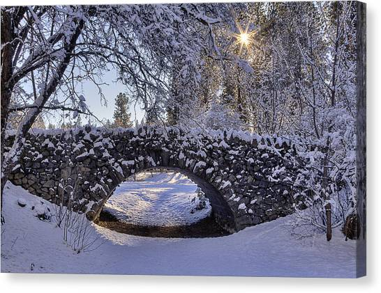 Inland Canvas Print - Cannon Hill Park Winter by Mark Kiver