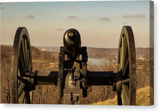 Ohio Valley Canvas Print - Canon On Lookout by Edie Ann Mendenhall