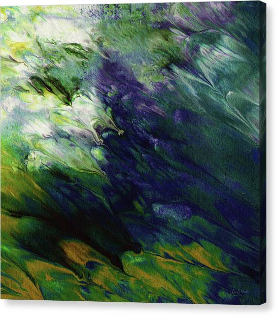 Fluids Canvas Print - Canopy 3- Art By Linda Woods by Linda Woods