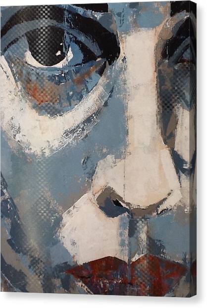 Lips Canvas Print - Can't Get You Out Of My Head  by Paul Lovering