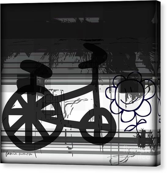 Can't Ride A Bike But I Can Fly Canvas Print by Fania Simon