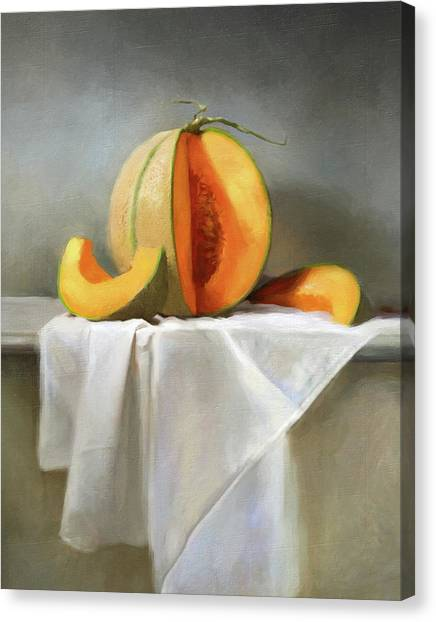 Cantaloupe Canvas Print - Cantaloupes by Robert Papp