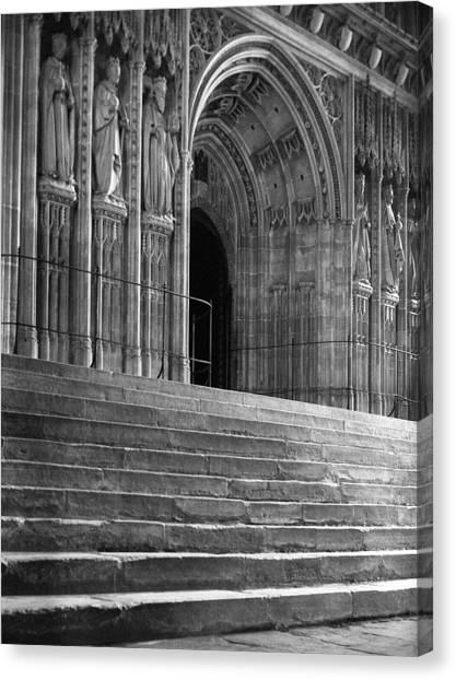 Canterbury Cathedral Choir Entrance Canterbury England Canvas Print by Richard Singleton
