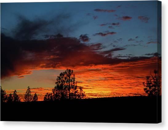 Canvas Print featuring the photograph Canvas For A Setting Sun by Jason Coward