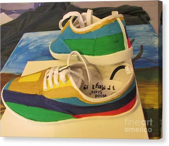 Canvas Shoe Art 003 Canvas Print